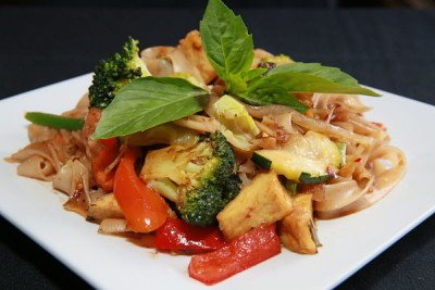 Pad Kee Mow with Tofu